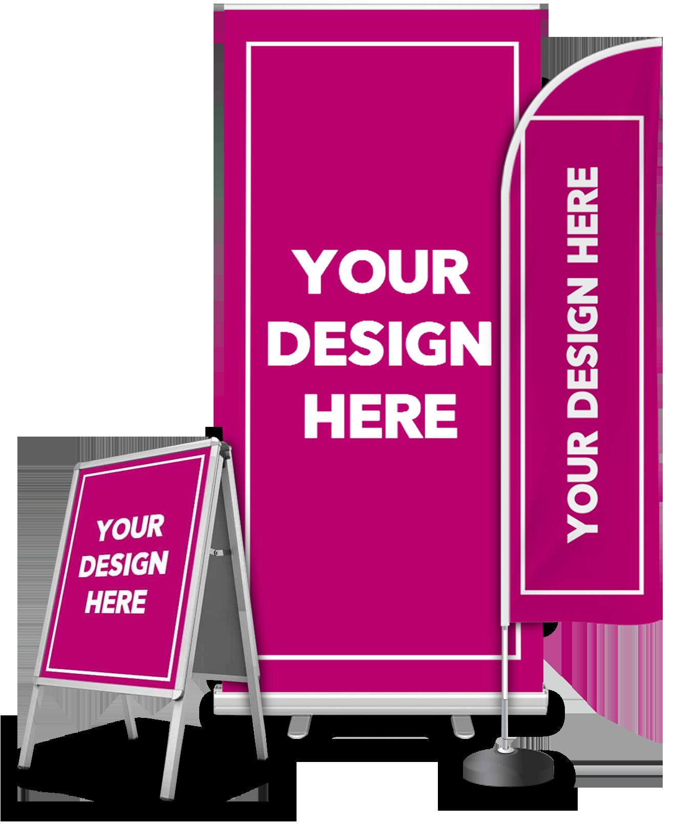 Exhibition board pop-up banner design service - website design graphic designers